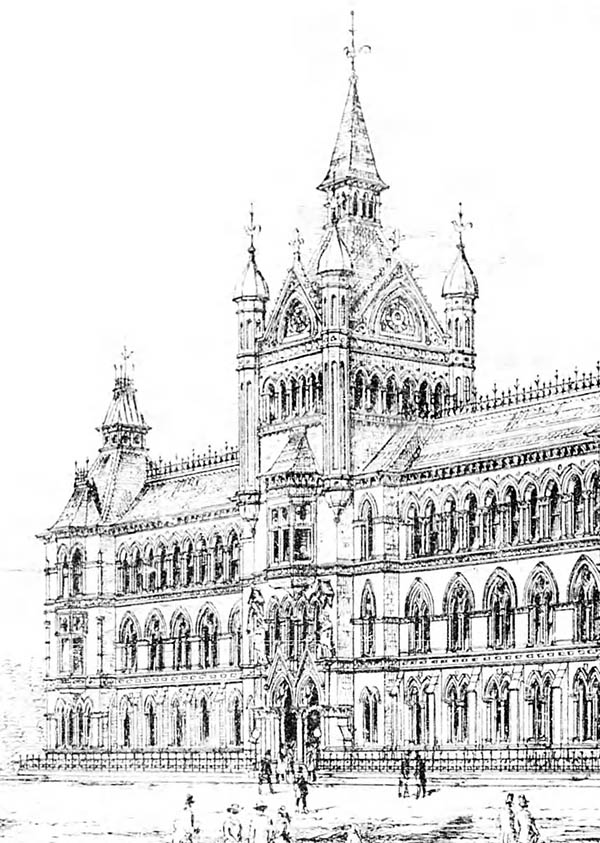 1883 – Design for National Museum, Kildare St., Dublin