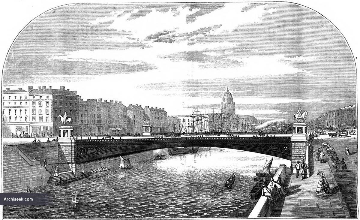 1870 – Design for O'Connell Bridge, Dublin