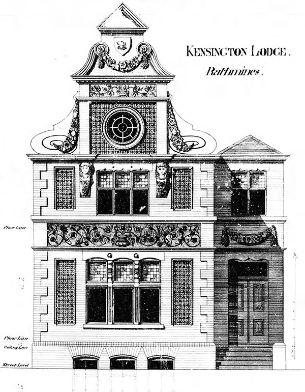 1882 – Kensington Lodge, Grove Park, Rathmines, Dublin
