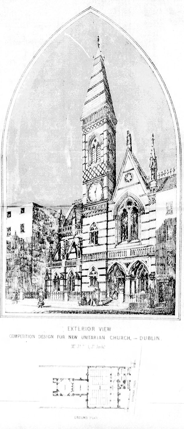 1861 – Design for Unitarian Church, Dublin
