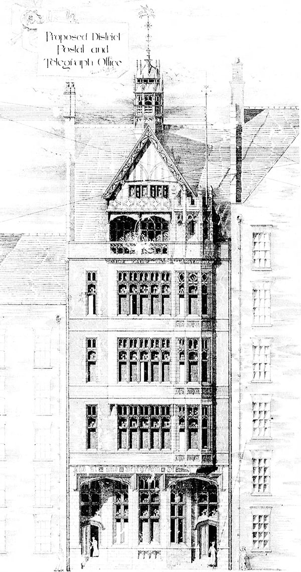 1889 – Proposal for Post Office, Dublin