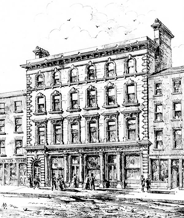 1867 – Design for Hugh Moore & Co., Capel St., Dublin