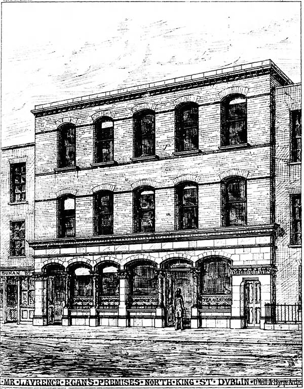 1876 – Laurence Egan's, 87 North King Street, Dublin