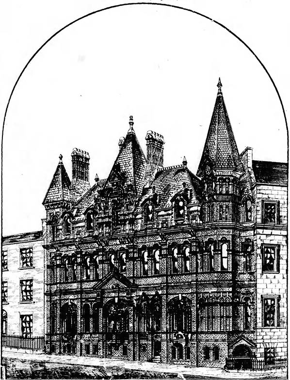 1880 – Selected design for offices Mercer's Hospital, Dublin