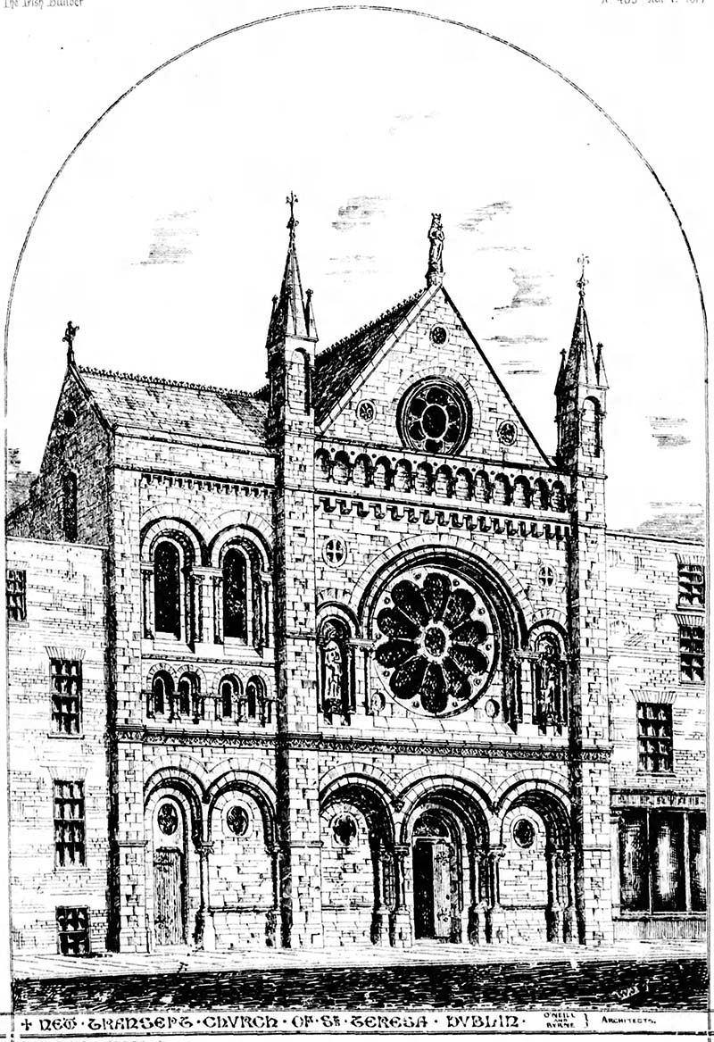 1876 – Additions to St. Teresa's Church, Clarendon Street, Dublin
