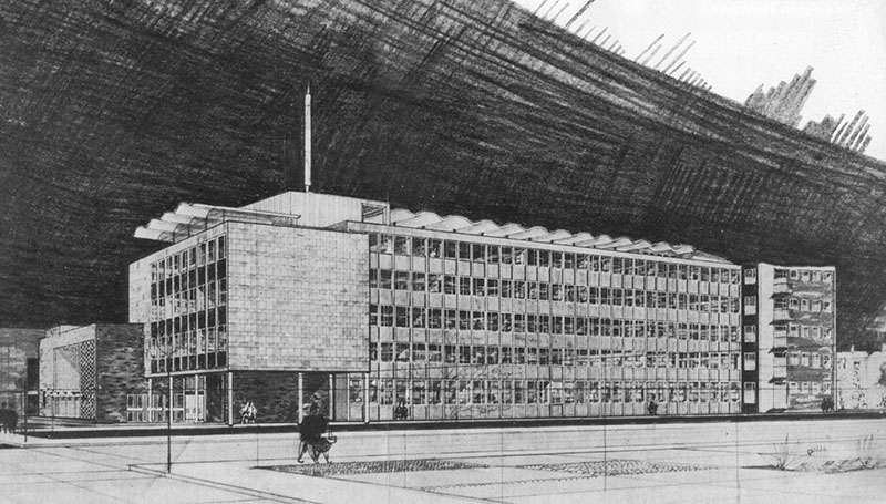 1968 – Design for Institute of Technology, Kevin Street, Dublin