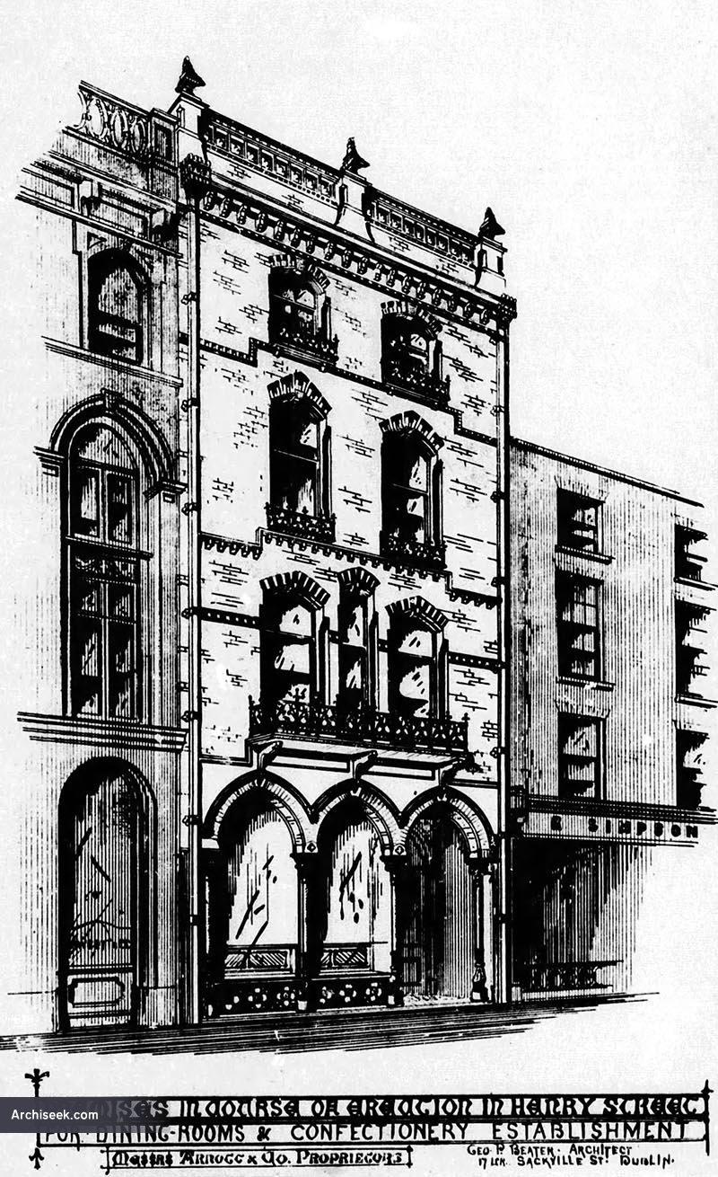 1875 – Dining & Confectionary Shop, Arnott & Co., Henry Street, Dublin