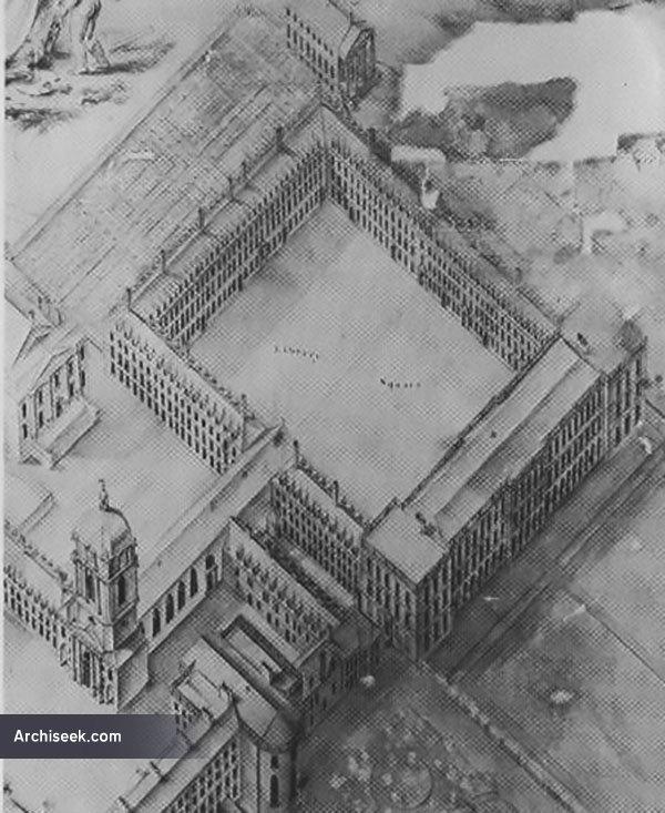 1700s – Library Square, Trinity College Dublin