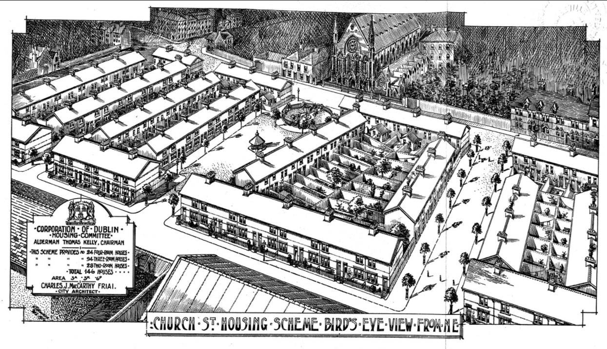 1916 – Fr. Mathew Square, Church Street, Dublin