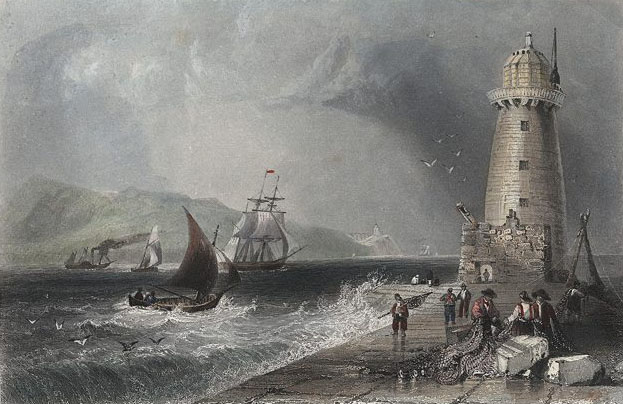 1820 – Poolbeg Lighthouse, Dublin