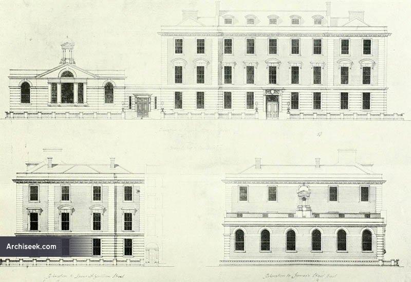 1917 – Proposal for NUI Senate House, Mount & Fitzwilliam Streets, Dublin