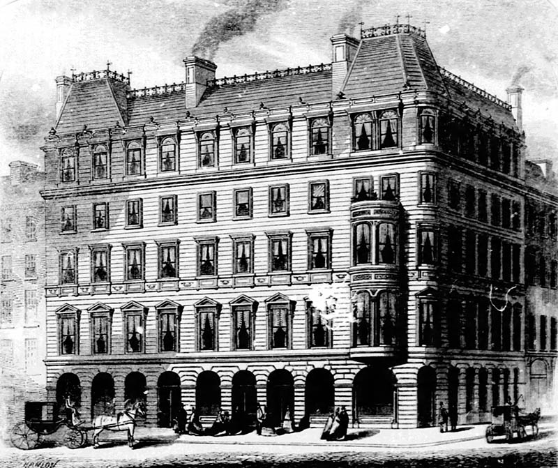 1863 – Proposal for Central Metropolitan Hotel, Dublin