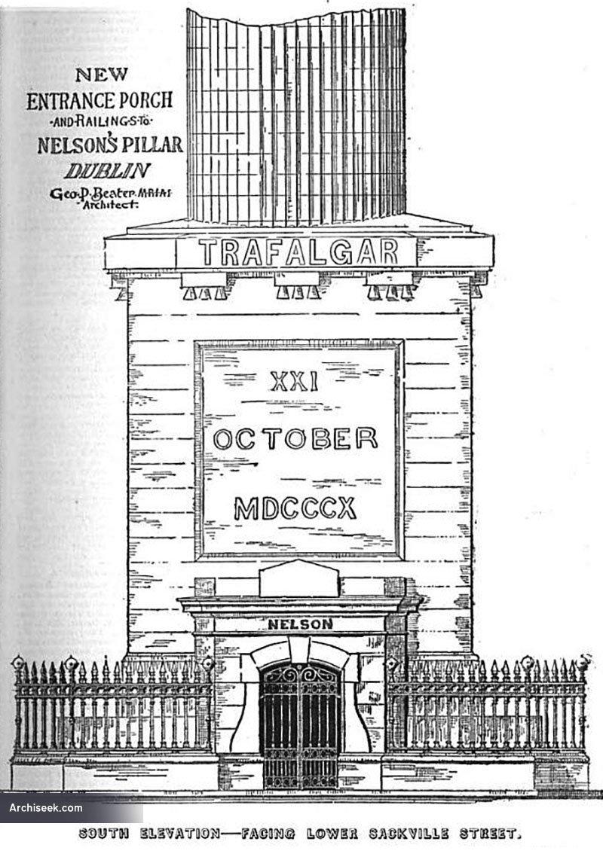 1894 – Design for entrance and railings, Nelson's Pillar, Dublin