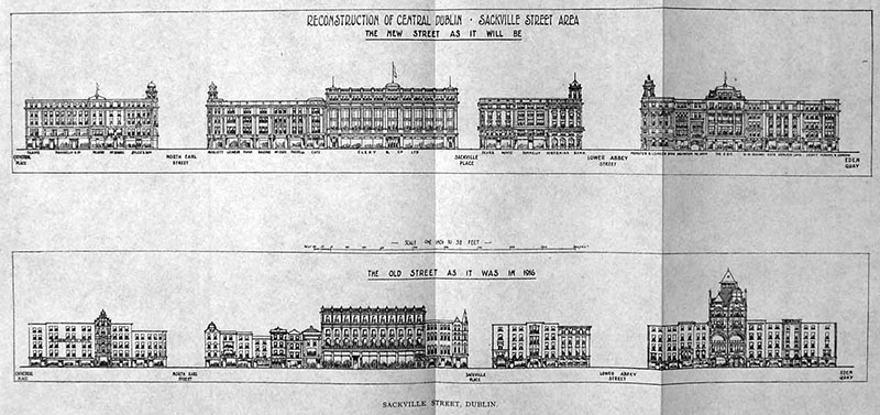 1919 – Post 1916 Reconstruction of O'Connell Street, Dublin