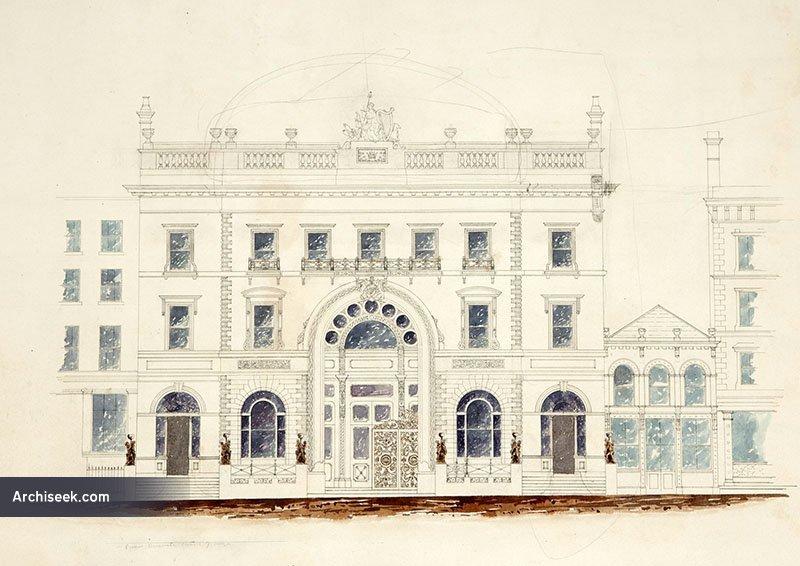 1862 – Design for National Bank, College Green, Dublin