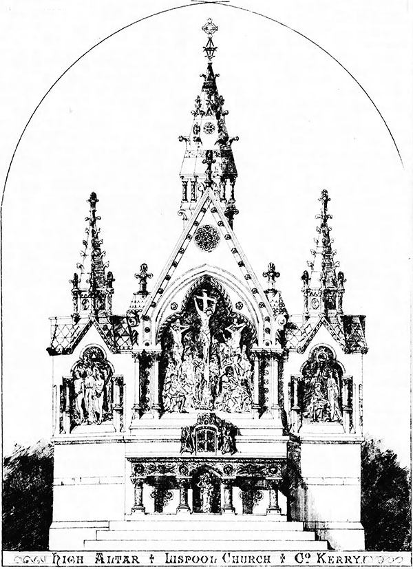 1870 – Design for High Altar, Lispole, Co. Kerry