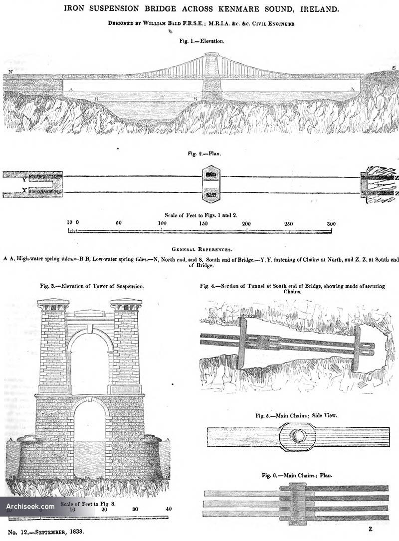 1841 – Suspension Bridge, Kenmare, Co. Kerry