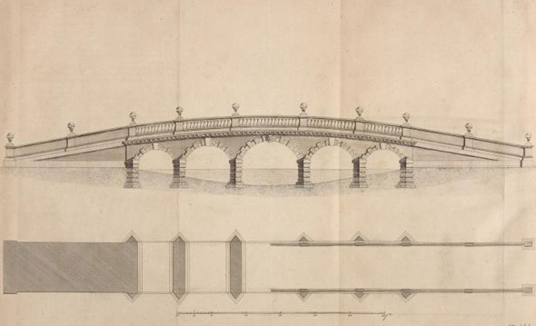 1756 – Design for Bridge, Carton, Co. Kildare