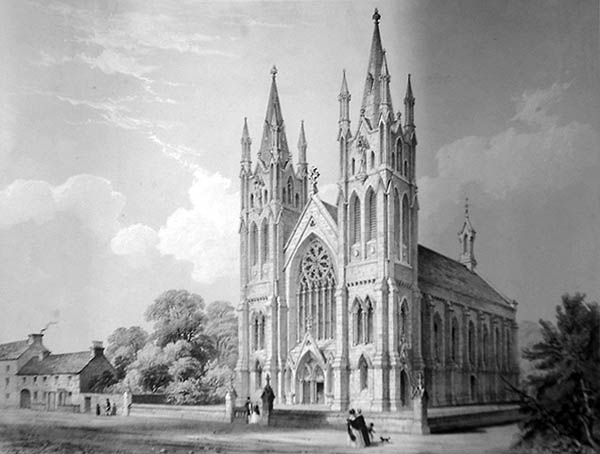 1848 – Unbuilt Design for St Peter's & Paul Church, Monasterevin, Co. Kildare