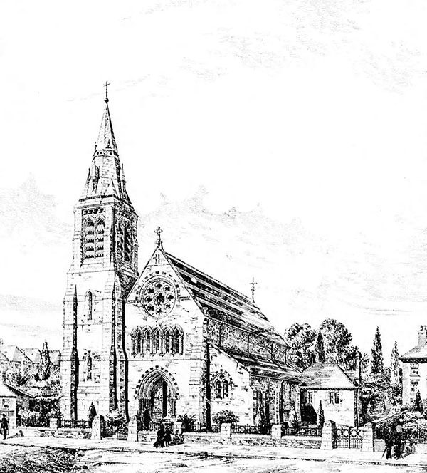 1884 – Design for St. Patrick's Church, Kilkenny