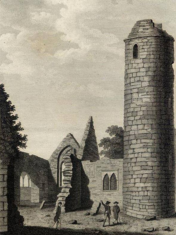 9th Century Round Tower at Turlough, Co. Mayo