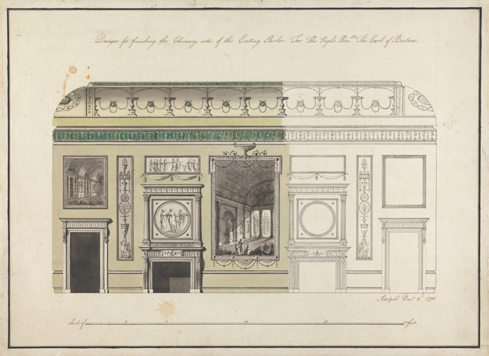 1771 &#8211; Interior Decorative Schemes for Headfort House, Co. Meath