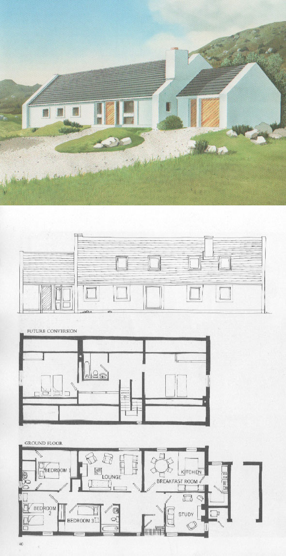House plans and design house plans ireland books for Bungalow designs ireland