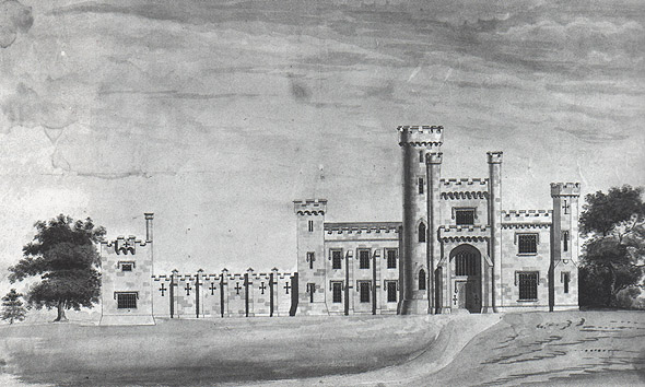 1812 &#8211; Design for Knockdrin Castle, Co. Westmeath