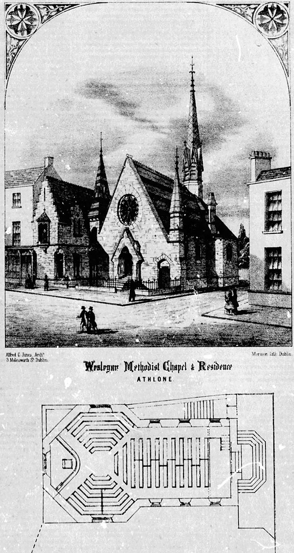 1864 – Design for Wesleyan Chapel, Athlone, Co. Westmeath