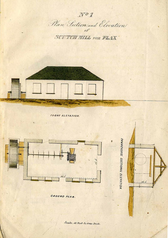 1852 &#8211; Scutch Mills for Flax