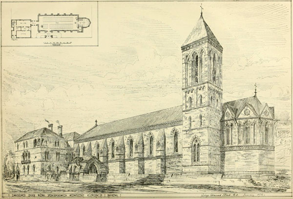 1872 &#8211; Design for English Church in Rome