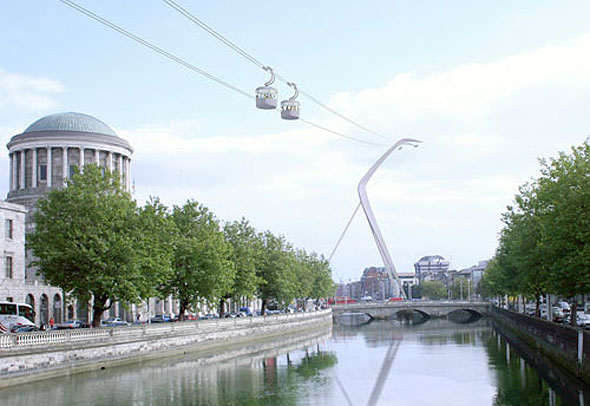 Planning board rules against cable cars over Liffey