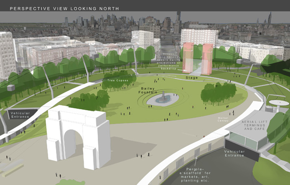 Quilligan Architects finalists in re-inventing Grand Army Plaza competition