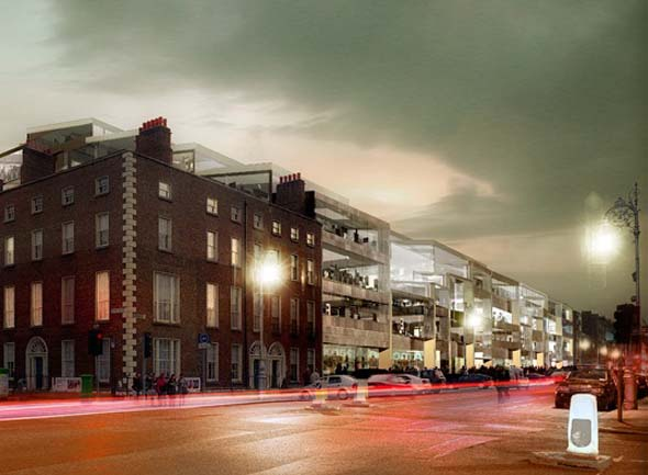 3XN Architects & OMS Architects proposal for ESB Fitzwilliam Street