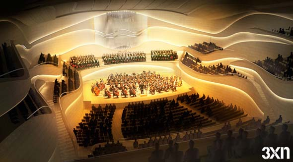 Unrealised Design for National Concert Hall, Dublin by 3XN