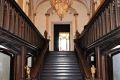 A staircase rises majestically from the entrance hall. It leads directly to the gallery, one of the largest rooms in the castle, which contains one of the most beautiful plaster ceilings in Ireland. (David Hicks)taken from Irish Country Houses - A Chronicle of Change by David Hicks, published by The Collins Press, 2012