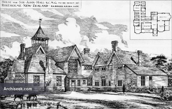 1886 – House for Sir John Hall, Riseholme, New Zealand