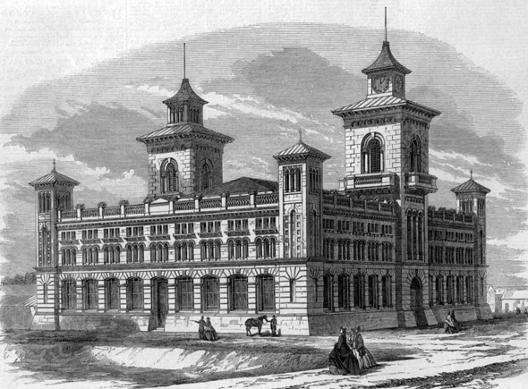 1865 – Exhibition Building, Dunedin, Otago, New Zealand