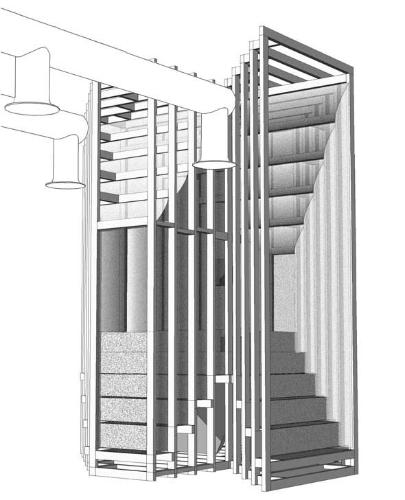 Year: 2010 Title: view of 4am, Palazzo delle Esposizioni, Venice; dePaor architects at the 12th International Architecture Exhibition (La Biennale) Image: dePaor architects
