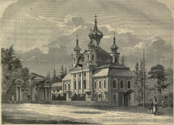 1861 – Design for private chapel for Emperor, St. Petersburg, Russia