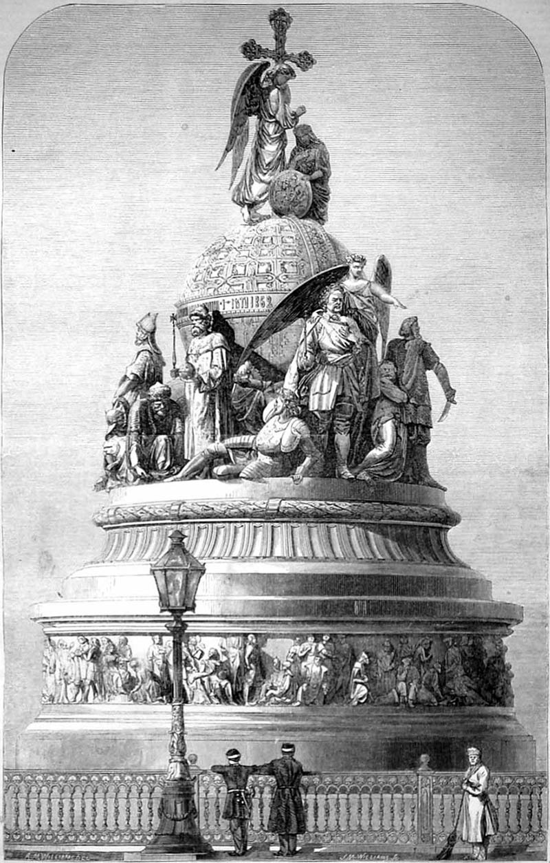 1862 – Monument of the Russian Empire, Novgorod, Russia