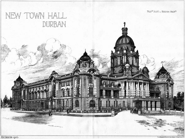 1906 – New Town Hall, Durban, South Africa