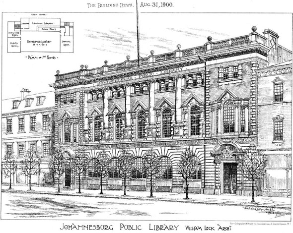 1900 – Johannesburg Public Library, South Africa