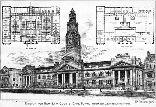 1906 &#8211; Design for New Law Courts, Durban, South Africa