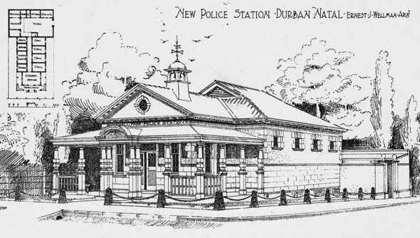 1902 &#8211; New Police Station, Durban, South Africa
