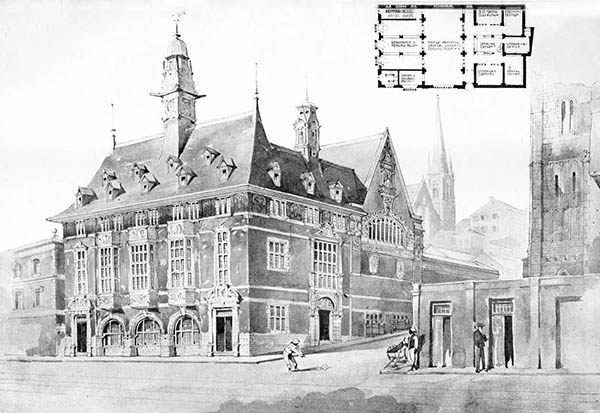 1897 – Unbuilt Designs, Savage Memorial Hall, Port Elizabeth, South Africa