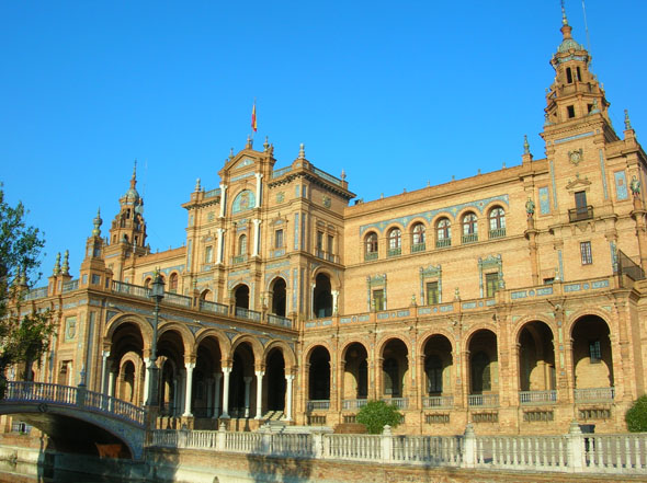 1929 РPlaza de Espa̱a Exposition Building, Seville, Spain