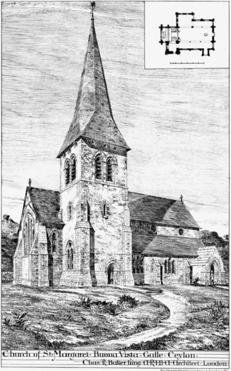 1884 – St. Margaret's Church, Galle, Sri Lanka