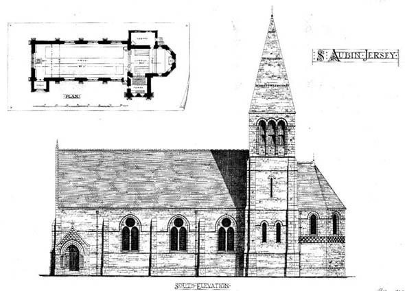 1873 – Unbuilt Design for St. Aubin's Church, Jersey