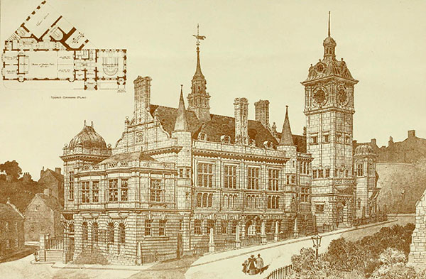 1898 – Unbuilt Design for State Assembly Hall, Guernsey